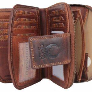 portfel skórzany brązowy Premium