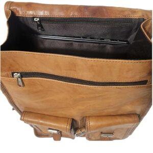 pojemny plecak skórzany do szkoły i do pracy