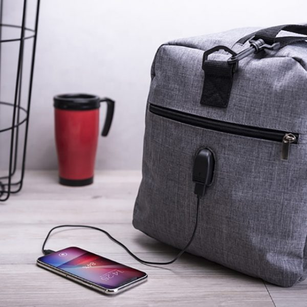 torba podróżna z zasilanie telefonu USB