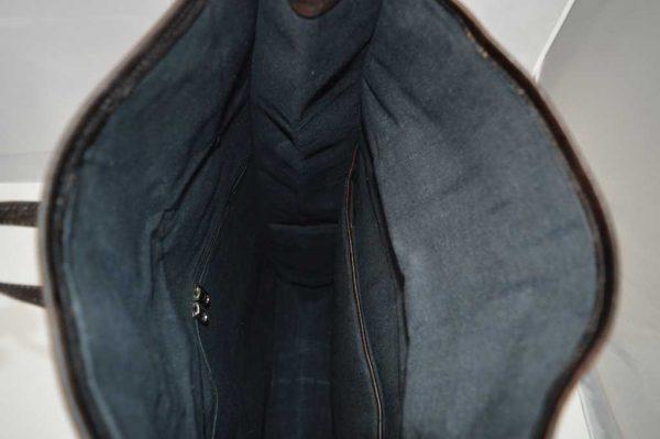pojemny worek skórzany czarny