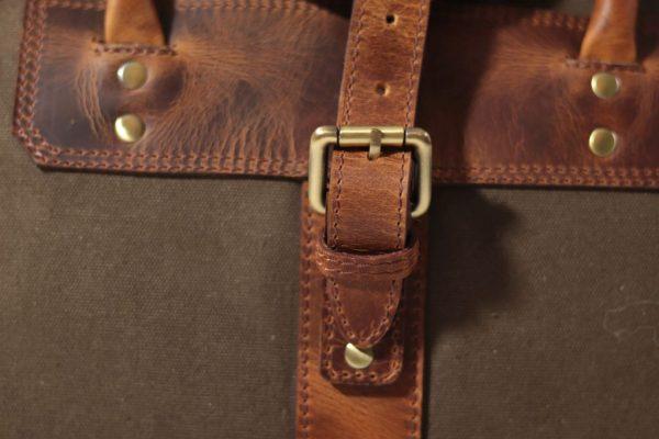 Unikatowa torba skórzana Corno d'oro