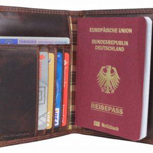 portfel ze skóry brązowy
