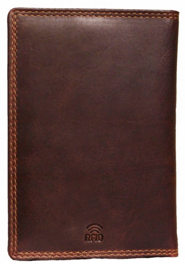 elegancki portfel skórzany brązowy