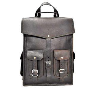 plecak skórzany czarny Vintage