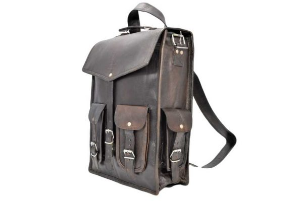 plecak skórzany klasy Premium w stylu Vintage