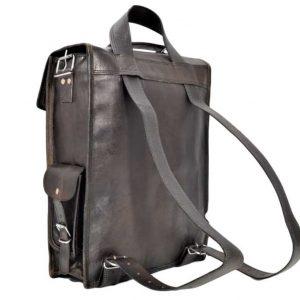 czarny plecak ze skóry w stylu Vintage