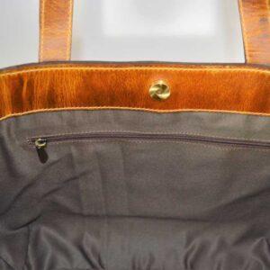 pojemna torebka ze skóry premium