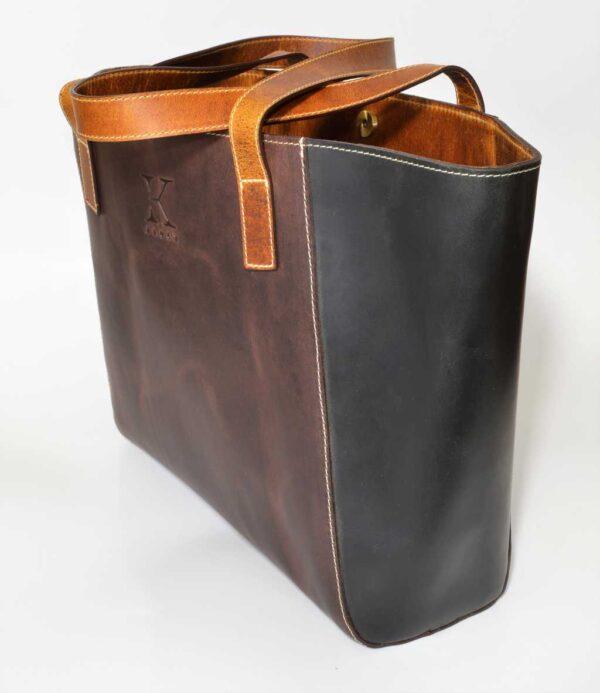 bardzo duża torebka ze skóry na klips