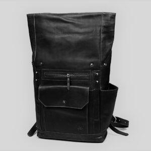 duży plecak skórzany czarny