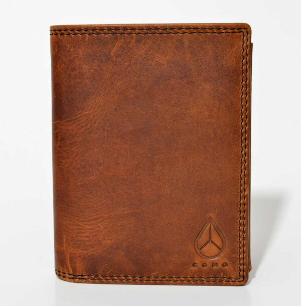 portfel skórzany męski brązowy