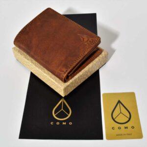 brązowy portfel ze skóry