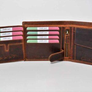 nowoczesny portfel skórzany męski