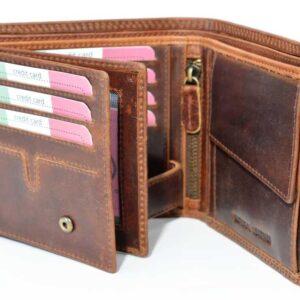 funkcjonalny portfel ze skóry bawolej