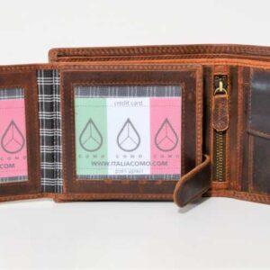 funkcjonalny portfel męski ze skóry