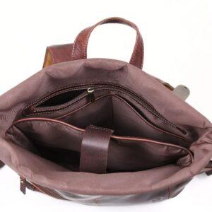 pojemny plecak ze skóry brązowy