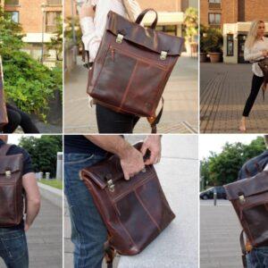 wygodny i elegancki plecak skórzany na co dzień
