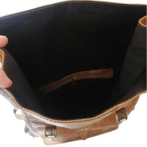 pojemny plecak skórzany worek