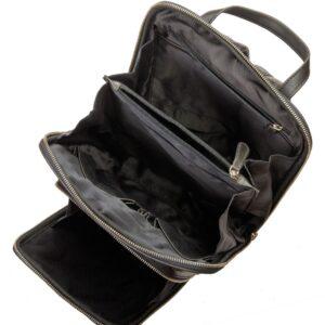 plecak skórzany czarny nowoczesny