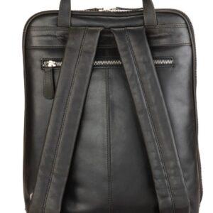 modny plecak skórzany czarny